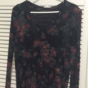 Aritzia Wilfred Floral Long Sleeve